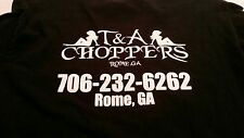 T&A Choppers Motorcycle Shop Rome GA Long Sleeved Crew Novelty T-Shirt Adult M