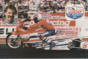 1997 Hector Arana Lucas Oil Suzuki Pro Stock Motorcycle NHRA Hero Card
