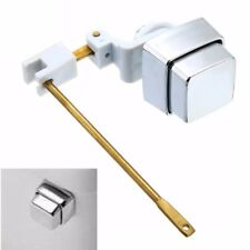 Toilet Plumber Tank Lever Flush Handle Square Brass Arm Push Button Side Mount