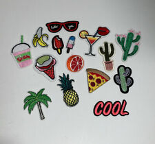 Summer cool iron on patches , 15 different patches