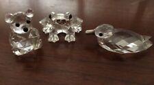 Bear Or Frog Or Duck SWAROVSKI Miniature Figurine 32% lead Crystal Austria*