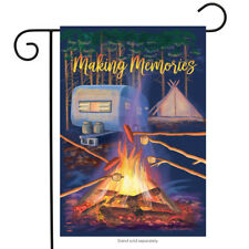 "Making Memories Fall Garden Flag Campfire Marshmallows 12.5""x18"" Briarwood Lane"
