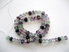 Multi fluorite triangle beads 8mm. Natural gemstone beads. Full strand