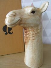 More details for beautiful 27cm large camel flower vase by quail pottery boxed  low price