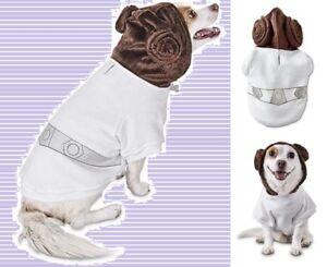 "PETCO Star Wars Princess Leia Halloween Dog Hoodie Sweatshirt Medium 13-15""BACK"