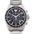 EMPORIO-ARMANI-AR6098-Black-Dial-Mens-Watch-Genuine-FreeSH