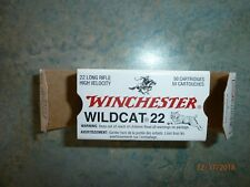 Vintage Winchester Wildcat 22 Lr High Velocity Ammo Boxes Empty Free Ship