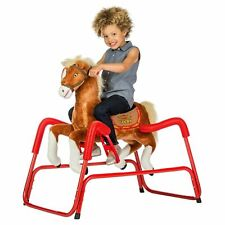Rockin' Rider Lucky Talking Plush Spring Horse NEW