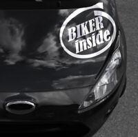 Motorrad Autosticker Sticker Biker inside Aufkleber Motorraddecals Textaufkleber