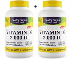 Healthy Origins Vitamin D-3 2000 IU x 360 Capsule