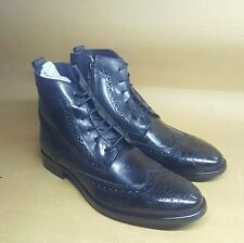 99cells by Bata Men's Leather Brogue Boots with zip UK7 Black Color w/o box