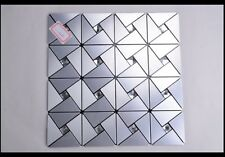 aluminium chrome silver mosaic tiles size 30x30 over 500 sheets available