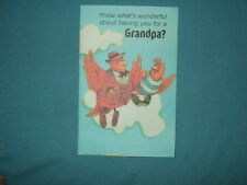 For Grandpa on Grandparents Day Greeting Card