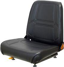 Black Vinyl Seat With Slide Rails for Construction Forklifts Telehandlers etc
