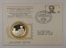 1975 Postmasters Of America Commemorative Silver Medal Albert Schweitzer