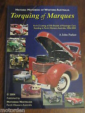 Historic Motoring in Western Australia 1896-2004 illustrat 151pg book NO RESERVE