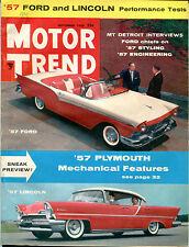 Motor Trend Magazine November 1956 '57 Plymouth Mechanical VGEX 122215jhe