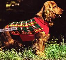 TARTAN DOG COAT - medium / 10ply or Aran - COPY CROCHET & KNITTING pattern