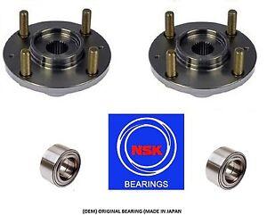 2000-2005 TOYOTA ECHO Front Wheel Hub & (OEM) (NSK) Bearing Kit (PAIR)