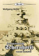 "Deutsche Gesch. * Schlachtschiff ""Scharnhorst"" versenkt 26.12.1943, Nr. 62"