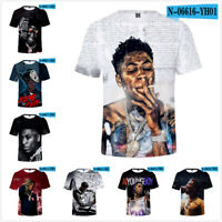 YoungBoy Never Broke Again Rapper 3D T-Shirt for Men Women Round neck top Tee US