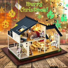 Puppenstuben Häuser DIY Modellhaus Provence Dollhouse 3D Puzzle mit LED Light DE