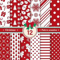 25St Weihnachten Baumwolle Stoff Patchwork Bündel Leinwandbindung DIY Nähen Deko