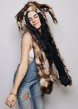 Spirithoods Limited Edition Brown Rabbit Hood, Scoodie~ Brand new in bag!