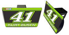 NASCAR #41 KURT BUSCH Metal Trailer Hitch Cover-NASCAR Hitch Cover