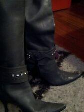 El Vaquero by Valerio Giuntoli soft gray nappa leather boots 38.5 US 8.5