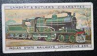 Indian State Railways  Eastern Bengal   4-4-0 Steam Locomotive    Vintage Card