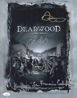 Ian McShane DEADWOOD Cast X4 Signed 11x14 Photo IN PERSON Autograph JSA COA