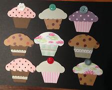 Scrapbooking - card making - craft - embellishment - cupcakes x 2