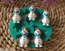 Moule Silicone 5 Olaf de La Reine Des Neiges Gateaux Pate à Sucre d'Amande Cake
