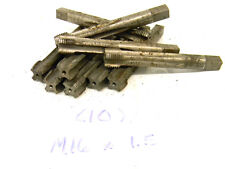 10 USED JARVIS USA METRIC HAND TAPS M16 X 1.5 D6 4-FLUTE SEMI-BOTTOMING