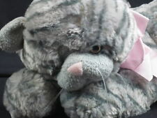 LIFESIZE FAO SCHWARZ GRAY TIGER TABBY Stripes Kitty CAT PLUSH STUFFED Animal TOY