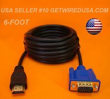 us seller NEW VGA to HDMI VIDEO MONITOR CABLE LAPTOP COMPUTER TV SCREEN CORD 6FT