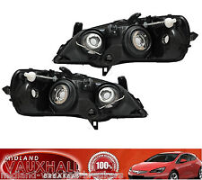 VAUXHALL ASTRA G MK4 PAIR BLACK HEADLIGHTS + SMOKED SIDE REPEATERS HEADLAMPS GSI