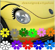 Car EYELASHES headlight EYEBROW Face beetle volkswagen black decal conform USA