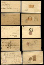 MALAYA KG5 1922-35...9 stamps on 5 COVERS