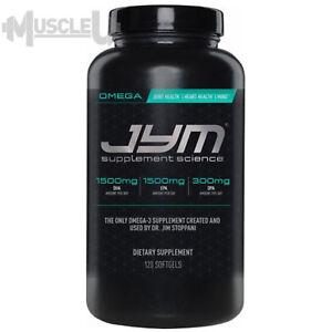 JYM Omega Jym - 120 Softgel Capsules - Fish Oil Omega-3 DHA EPA Alpha Vita Pre