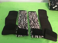 4-MALE DOG BELLY BANDS NO INSERTS LEAK PROOF BLACK & ZEBRA JUST WASH & WEAR