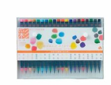 Akashiya SAI Japanese Traditional 20 Colors Brush Watercolor Pen Japan