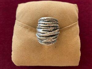 Israel 925 Sterling Silver Electroform Modernist Ring Size 7 (8g)