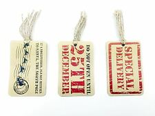 12 Assorted Xmas Party Gift Tags Do Not Open Until 25th December Vintage Present