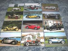Lot of 12 Postcards of Automobiles Cars, Bugatti Rolls-Royce etc Auto - Postcard