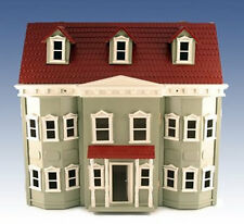 Traditional Green Fronted Townhouse Wooden Dolls Collectors House