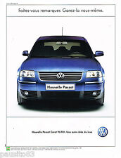 PUBLICITE ADVERTISING 065  2001  VOLKSWAGEN  PASSAT CARAT V6 TDI
