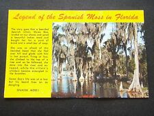 LEGEND OF THE SPANISH MOSS HANGING FROM CYPRESS TREES IN FLORIDA  POSTCARD