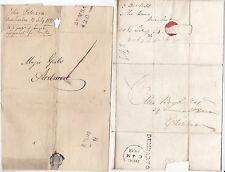 * 1826/33 2 DIFF DUMBARTON POSTMARK 1d & 8½d RATES WRAPPER & E/L ARDMORE & EDINB
